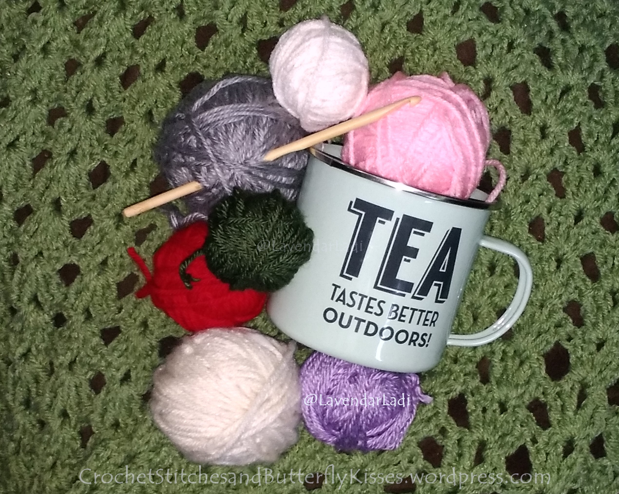 February's Yarn and Tea ~ More tea than yarn ;)